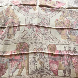 Hermes Dip Dye Silk Scarf